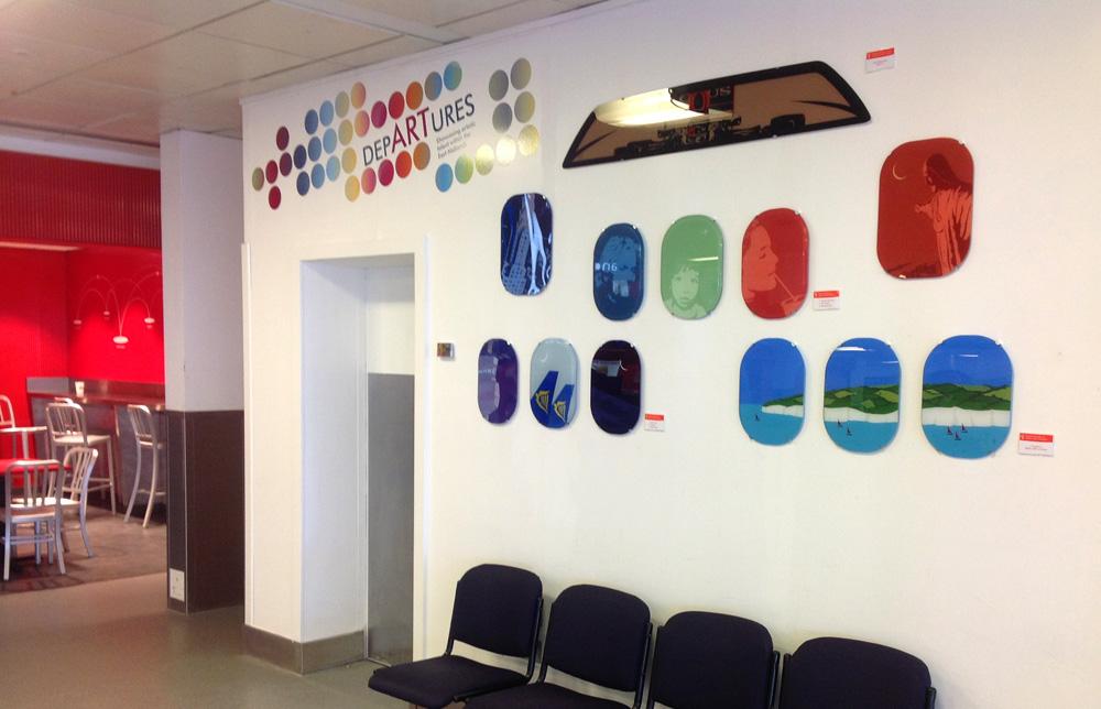East Midlands Airport Departures Exhibition