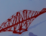 Forth Bridge 747 Window Artwork