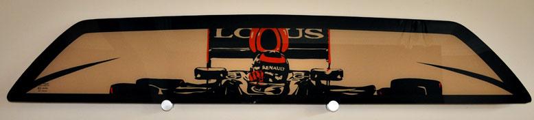 Kimi Lotus artwork - Lotus Esprit Rear Window